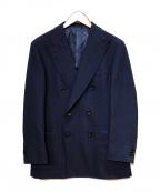 BEAMS F(ビームスエフ)の古着「CANONICOヘリンボーンダブルウレストジャケット」|ネイビー