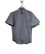 BLACK LABEL CRESTBRIDGE(ブラックレーベルクレストブリッジ)の古着「シアサッカーS/Sシャツ」|ネイビー