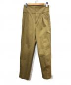 BEAUTY&YOUTH(ビューティアンドユース)の古着「サスペンダー付ハイウエストテーパードパンツ」|ベージュ