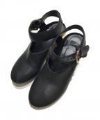 MM6 Maison Margiela(エムエムシックス メゾンマルジェラ)の古着「ストラップサンダル」|ブラック