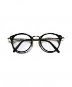 OLIVER PEOPLES(オリバーピープルズ)の古着「眼鏡」 ブラック×ゴールド