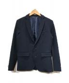 ()の古着「マルチストレッチキューダステーラードジャケット」|ネイビー