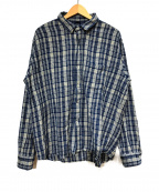 45R(フォーティファイブアール)の古着「ワイドチェックシャツ」|ブルー×アイボリー