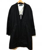 PHINGERIN(フィンガリン)の古着「チャイナショートラベルロングコート」|ブラック