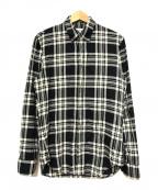 Maison Margiela(メゾンマルジェラ)の古着「ボタンダウンチェックシャツ」|ブラック×グレー