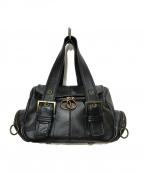 agnes b(アニエスベー)の古着「レザーハンドバッグ」|ブラック