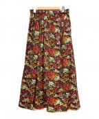 journal standard luxe(ジャーナルスタンダード ラックス)の古着「フラワープリントスカート」|ネイビー