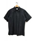 ()の古着「半袖プルオーバーシャツ」|ダークネイビー