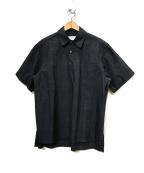 URU(ウル)の古着「半袖プルオーバーシャツ」|ダークネイビー