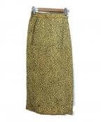 JOURNAL STANDARD relume(ジャーナルスタンダード レリューム)の古着「キュプラIラインスカート」 イエロー