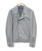 ()の古着「ダブルレザージャケット」 グレー