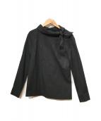 ()の古着「襟リボンブラウス」|ブラック