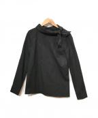 PRADA(プラダ)の古着「襟リボンブラウス」 ブラック