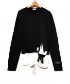 MONCLER(モンクレール)の古着「バイカラーロゴロングTシャツ」|ブラック