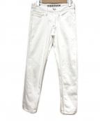 Denham(デンハム)の古着「RAZOR ASW/スリムデニムパンツ」 ホワイト