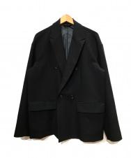 STUDIOUS (ステュディオス) オーバースリーブダブルジャケット ブラック サイズ:2