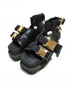 sacai(サカイ)の古着「Platform Buckle Sandals/サンダル」|ブラック