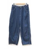 ()の古着「ヒザデルパンツ」|ブルー