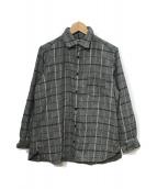 ()の古着「ウール混シャツ」|グレー