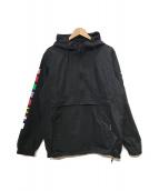 ()の古着「フーデッドブルゾン」|ブラック