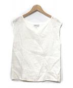 ()の古着「リネンノースリーブブラウス」|ホワイト