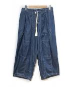 ()の古着「ヒザデルデニムパンツ」|ブルー