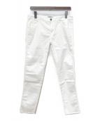 ()の古着「スリムフィットデニムパンツ」|ホワイト