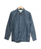 KATO(カトー)の古着「ボタンダウンシャツ」|ブルー