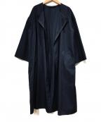 Demi-Luxe Beams(デミルクス ビームス)の古着「ノーカラーコート」 ネイビー