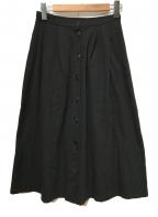 agnes b(アニエスベー)の古着「ワイドスカート」|ブラック