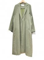 ENFOLD(エンフォルド)の古着「ロングコート」|カーキ