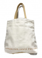 FONDATION LOUIS VUITTON(ファウンデーションルイヴィトン)の古着「キャンバストートバッグ」|アイボリー