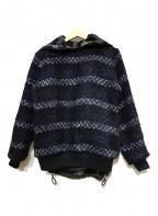 sacai(サカイ)の古着「リバーシブルアノラックパーカー」|ネイビー