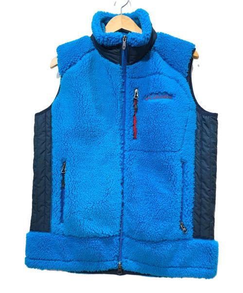 Columbia(コロンビア)Columbia (コロンビア) ボアベスト ブルー サイズ: Mの古着・服飾アイテム