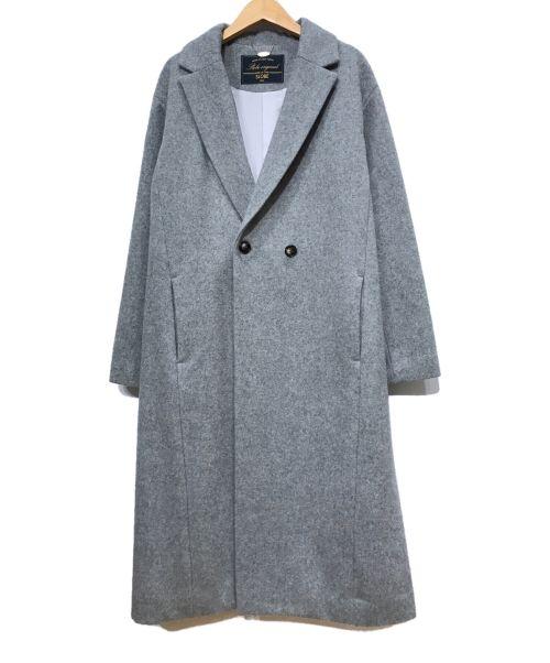 SLOBE IENA(スローブ イエナ)SLOBE IENA (スローブ イエナ) SUPER100シングル モッサダブルコート グレー サイズ:38の古着・服飾アイテム