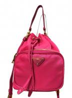 PRADA(プラダ)の古着「ナイロン巾着バッグ」 ショッキングピンク