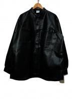 ()の古着「フェイクレザージャケット」|ブラック