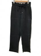 ()の古着「ウォッシャブルシルクイージーパンツ」|ブラック