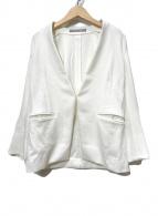 ()の古着「ノーカラージャケット」|ホワイト