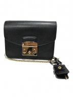 FURLA(フルラ)の古着「メトロポリスチェーンショルダーバッグ」 ブラック