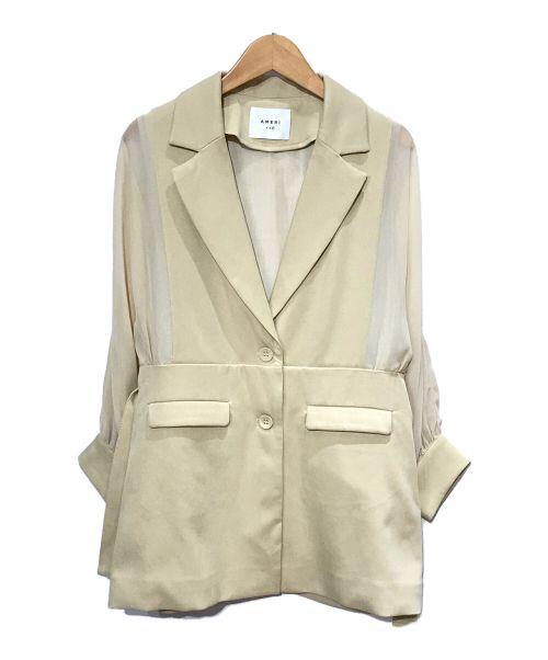 Ameri VINTAGE(アメリヴィンテージ)Ameri VINTAGE (アメリヴィンテージ) ドルマンジャケット ベージュ サイズ:Fの古着・服飾アイテム