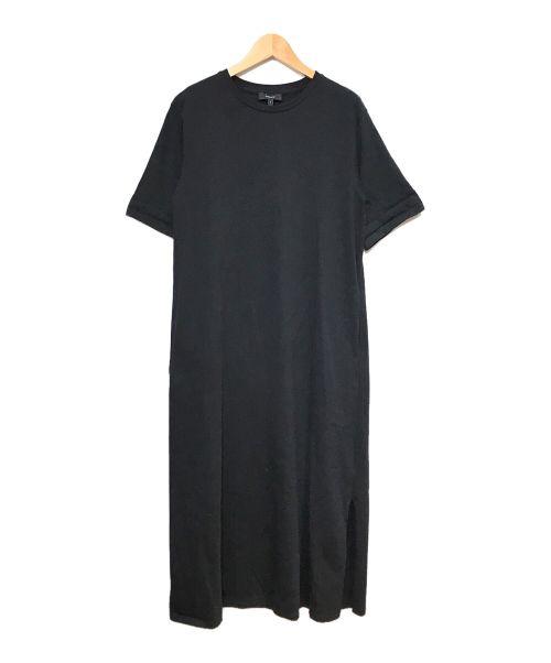 theory(セオリー)theory (セオリー) S/Sカットソーワンピース ブラック サイズ:Sの古着・服飾アイテム
