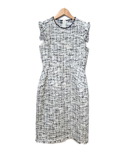 CELFORD(セルフォード)CELFORD (セルフォード) ツイードワンピース ホワイト×ブラック サイズ:38の古着・服飾アイテム