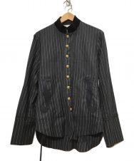 TAKAHIROMIYASHITA TheSoloIst. (タカヒロミヤシタザソロイスト) スタンドカラーコート ブラック サイズ:44