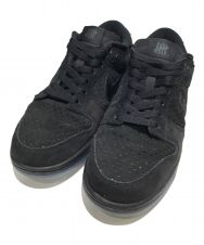 NIKE×UNDEFEATED (ナイキ×アンディフィーテッド) スニーカー ブラック サイズ:26cm