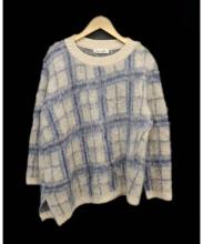 iliann loeb(イリアンローブ)の古着「シャギーモヘアナイロンニット」|ブルー