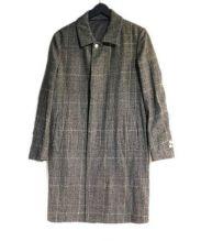 08sircus(ゼロエイトサーカス)の古着「グレンチェックステンカラーコート」|グレー