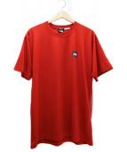 THE NORTH FACE(ザノースフェイス)の古着「スクエアロゴプリントTシャツ」|レッド×ネイビー