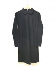 tricot COMME des GARCONS(トリココムデギャルソン)の古着「90sスリーブ切替ウールデザインワンピース」|ブラック