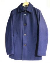 MACKINTOSH PHILOSOPHY(マッキントッシュフィロソフィー)の古着「アドミラルメルトンPコート」 ネイビー